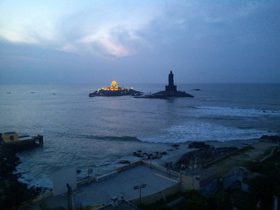 Hotel Samudra : View from Hotel roof in morning