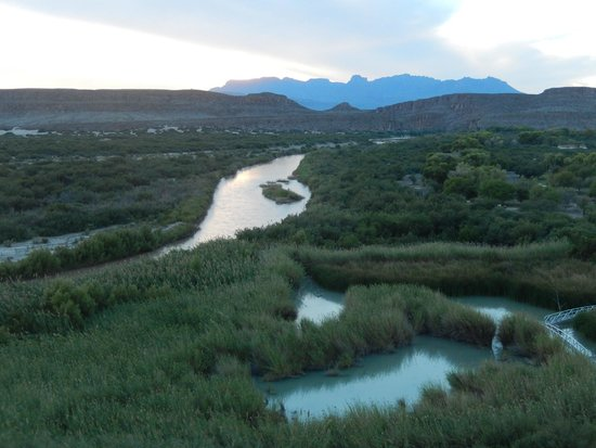 Looking west at the rio grande river and marsh lands Picture of