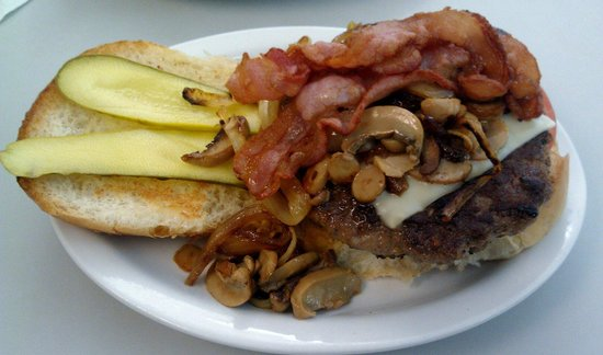 Olympia Restaurant: The Olympia Burger is fit for a hero!