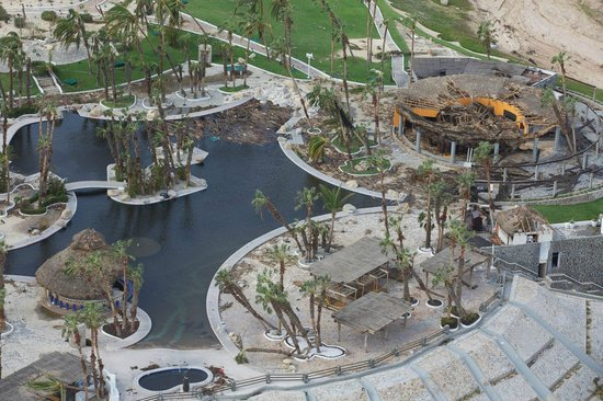 Paradisus Los Cabos: Pool area from the air pool bar and restaurant gone