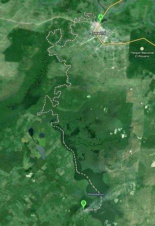 Aguateca : карта, чтобы было понятно, куда вас потащат