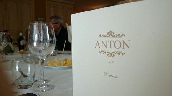 Villa Anton : Menù e tavolo