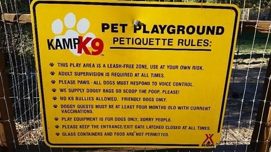 Leavenworth / Pine Village KOA: Pet Playground