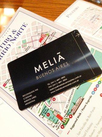 Melia Buenos Aires: Cartão