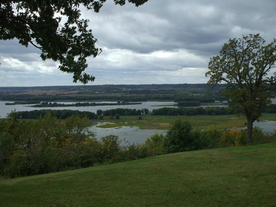 Chestnut Mountain Resort: View of the Mississippi River from the grounds.