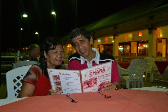 Chaba Thai Kitchen : our dinner menu