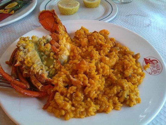 Mar de Plata: Paella con bogavante