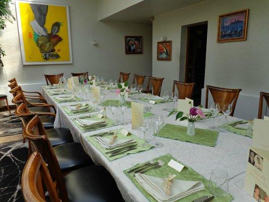 Table décorée par le restaurant
