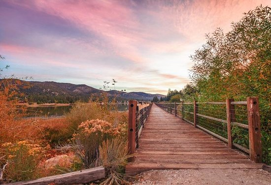 Big Bear City, CA: Fall sunsets in Big Bear Lake, CA.