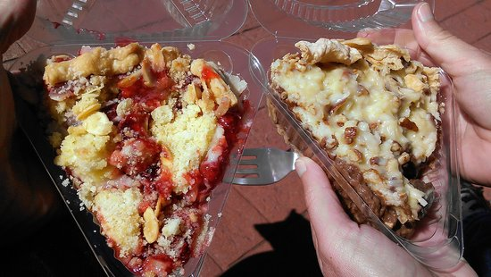 My Just Desserts: Cherry Almond Cobbler, German Chocolate