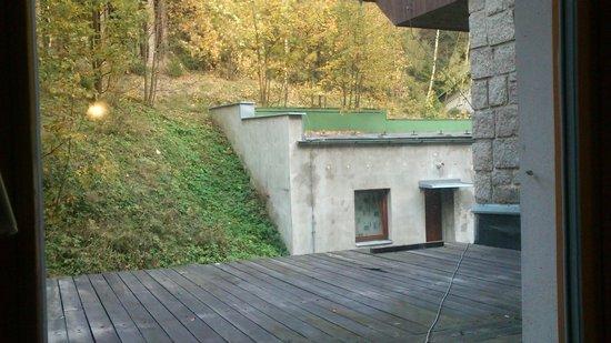 Parkhotel Harrachov : výhled z okna