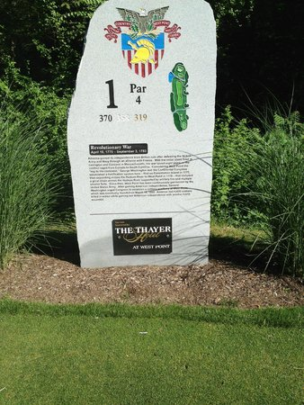 All the tees at West Point have these monuments with historial information.