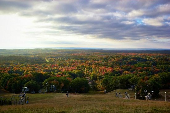 Caberfae Peaks Ski & Golf Resort: View from the top of the ski hill in the fall