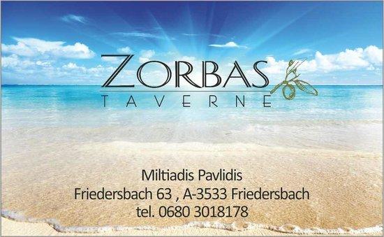 Friedersbach, ออสเตรีย: Taverne Zorbas