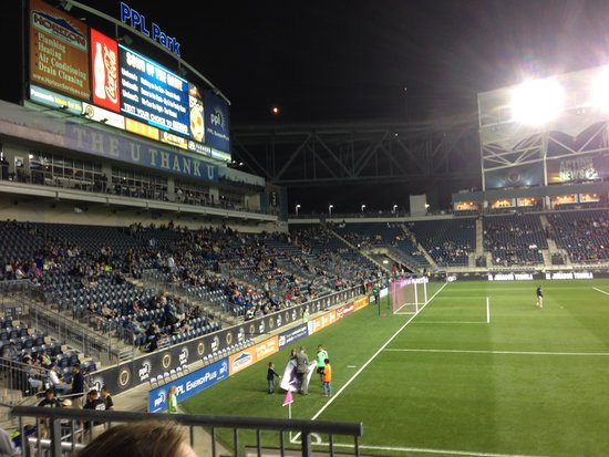 Talen Energy Stadium: View of park from seat