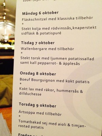 Radhuskallaren : A part of the Menu (obviously)