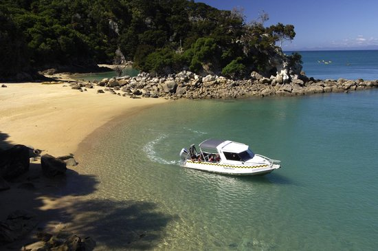 Marahau, New Zealand: Beach departure