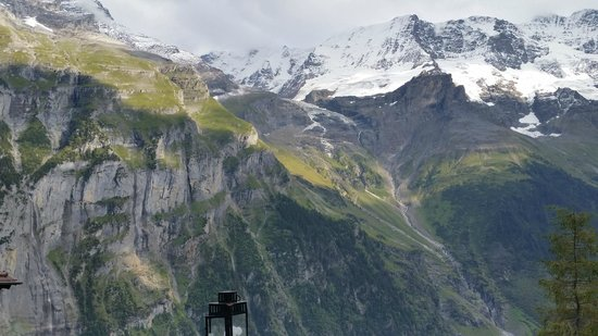 Pension Gimmelwald: View from restuarant patio