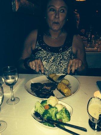 Paneil's: Sara loved her steak!