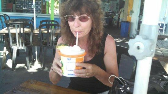 Rhythms at Rainbow Beach: Enjoying my bucket!