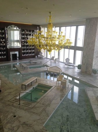 Viceroy Miami: Spa Waiting Room and Relaxation pools