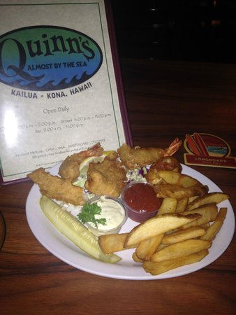 Quinn's Almost By The Sea: If you like your food seasoned well...don't get the fish and chips!