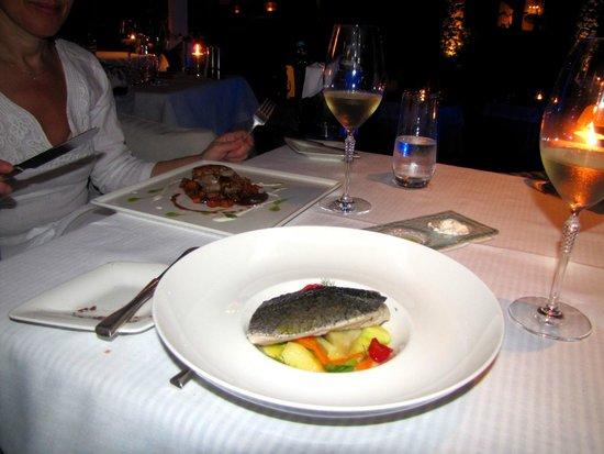 Aphrodite Restaurant @ Mykonian Ambassador Hotel: Mains - pork shank and cod
