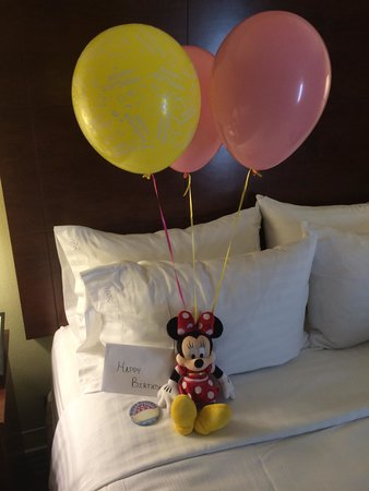 Holiday Inn Orlando – Disney Springs Area: I let hotel know ahead of time it was my daughters bday trip to Disney... This was waiting for h