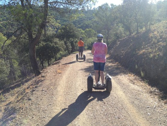 Segway Malaga Tours: Very nice off road.