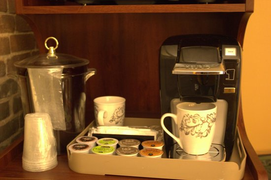 Inn at St. John: Wake up to your choice of coffee, tea or hot cocoa