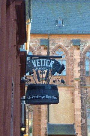 Vetter's Alt Heidelberger Brauhaus: Sign out front