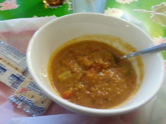 Grapes & Beans Cafe: Red Bean lentil soup with curry