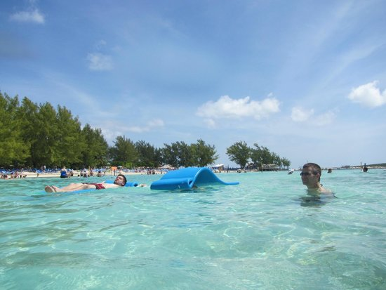 Coco Cay Relaxing On A Floating Beach Mat