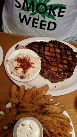 Texas Roadhouse: Mmm a juicy ribeye  steak Very very good