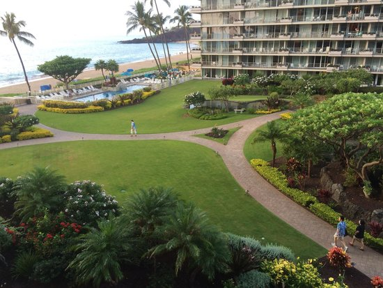 Aston at The Whaler on Kaanapali Beach: The view from our balcony.