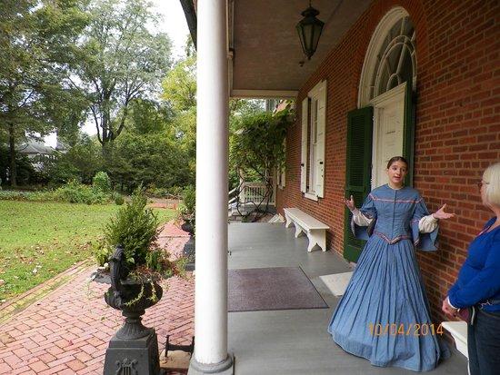 Wheatland: tour starts on back porch