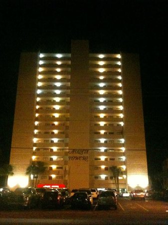 Atalaya Towers: Coming back to our condo at night