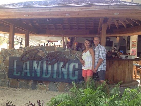 Cruz Bay Landing: Bartender photo bomb