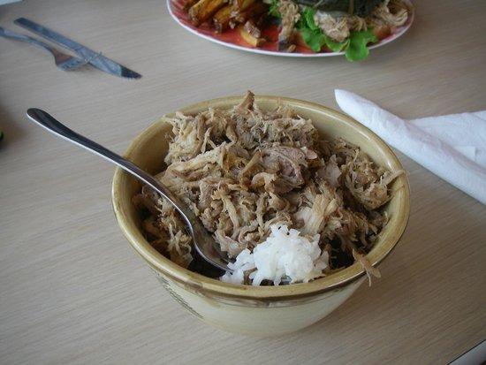 Aloha Lehua Cafe: My pulled-pork rice bowl.