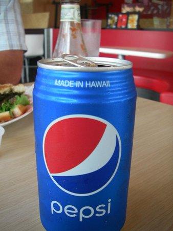 Aloha Lehua Cafe: Pepsi made in Hawaii.