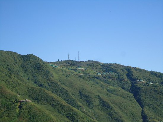Bomdila War Memorial and View Point: The top of Bomdia hill.