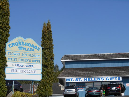 Toutle, WA: A multi business sign for Mt. St. Helen's Gifts and other business's.