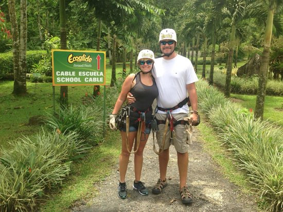 Ecoglide Arenal Park: Off on a tree swinging adventure!
