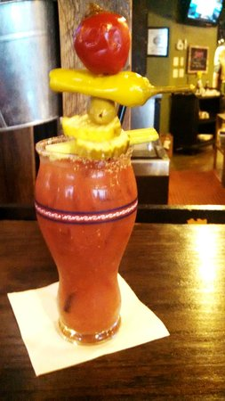Alpine Tavern and Eatery: A towering Bloody Mary (and darn good too!)