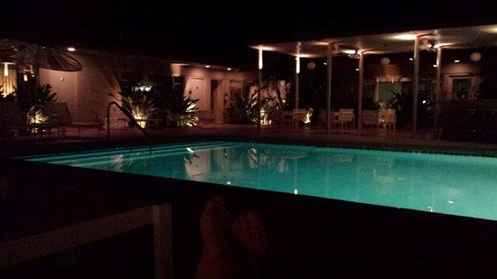 Orbit In: Pool in the evening