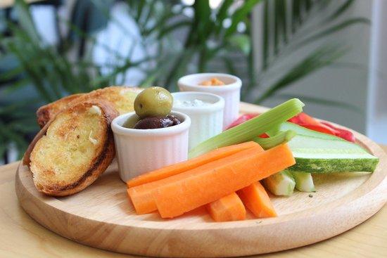 The Republic: Tzatziki & Roasted Red Pepper Hummus Dips