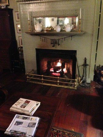 The Red Lion Inn: Fire on a rainy day