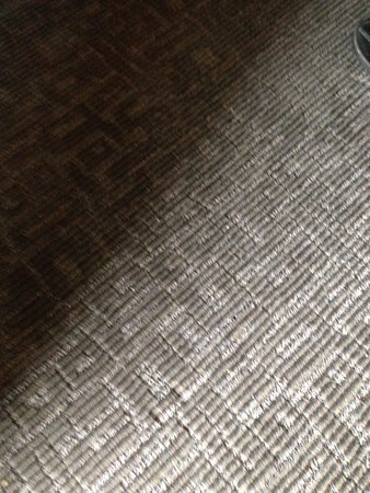 Coast Kamloops Hotel & Conference Centre: dirty carpet never vacuumed