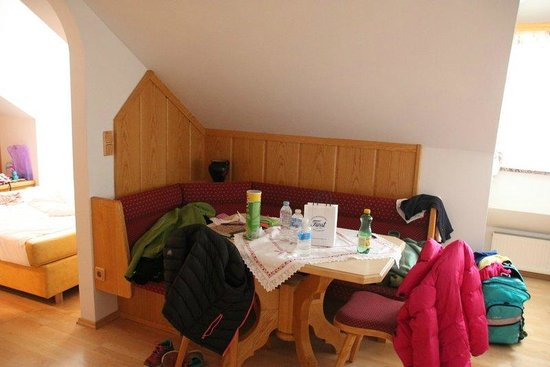 Hotel-Pension Bloberger Hof: Dining area in our room - we truly could live here!