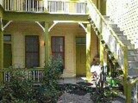A Yellow Rose Bed and Breakfast: Courtyard entrance and door to Magnolia Room